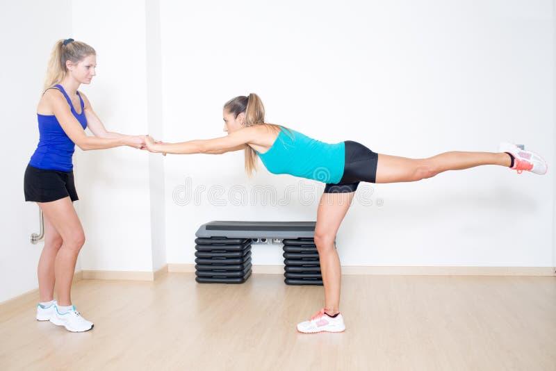 Exercice d'entraînement d'équilibre images stock