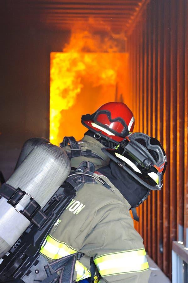 Exercice d'entraînement d'incendie photos stock