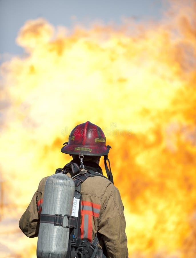 Exercice d'entraînement d'incendie photos libres de droits