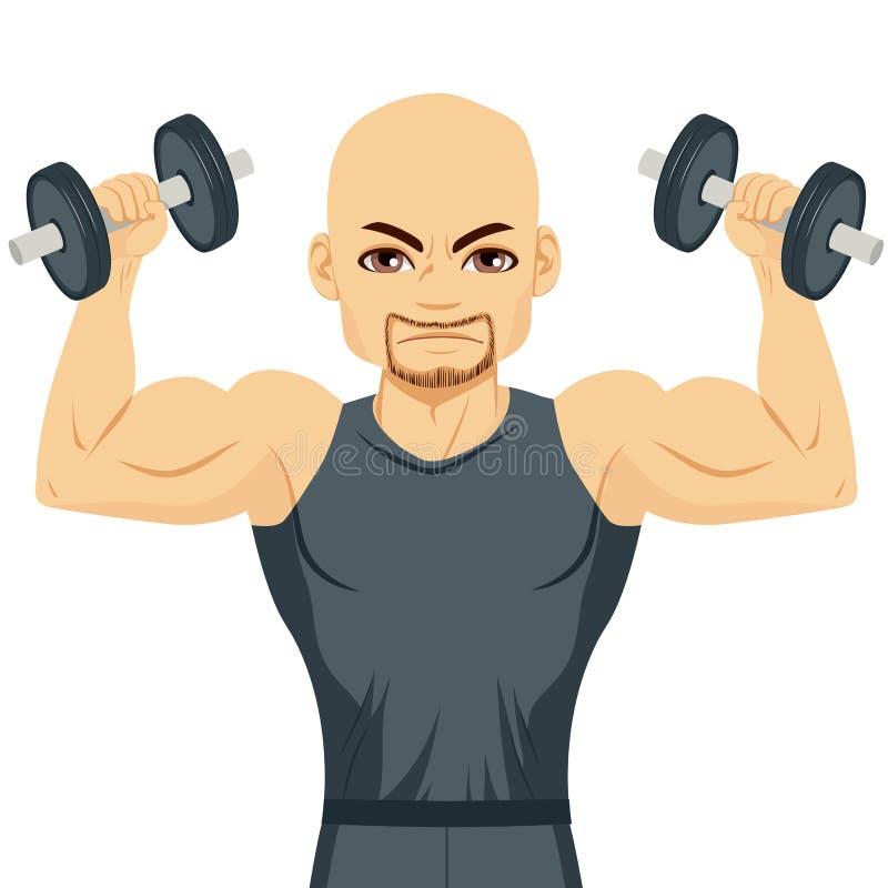 Exercice d'homme de Bodybuilder illustration de vecteur