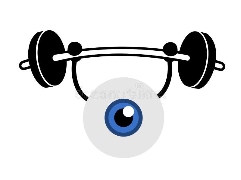 Exercice d'oeil illustration de vecteur