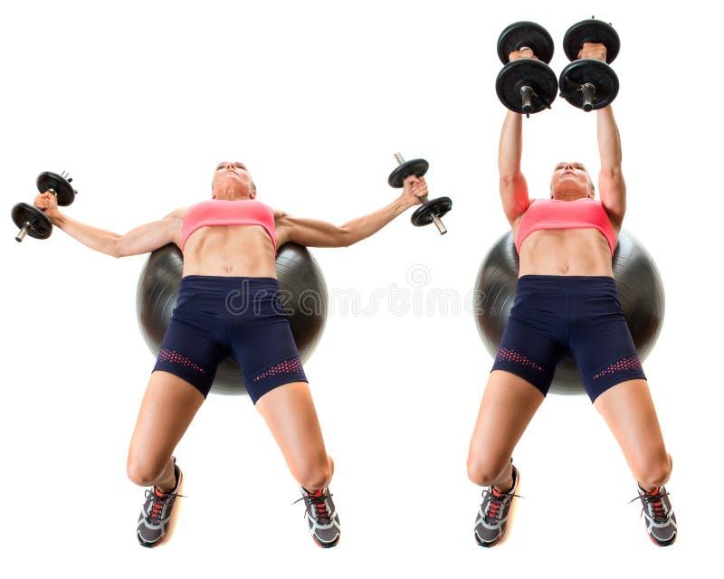 Exercice de boule de stabilité images stock