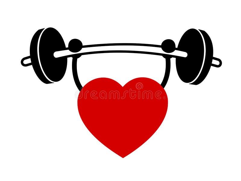 Exercice de coeur illustration libre de droits