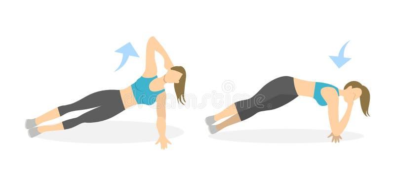 Exercice de corps pour des femmes illustration stock