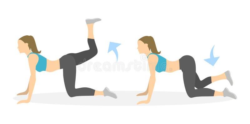 Exercice de croisements pour des jambes illustration stock