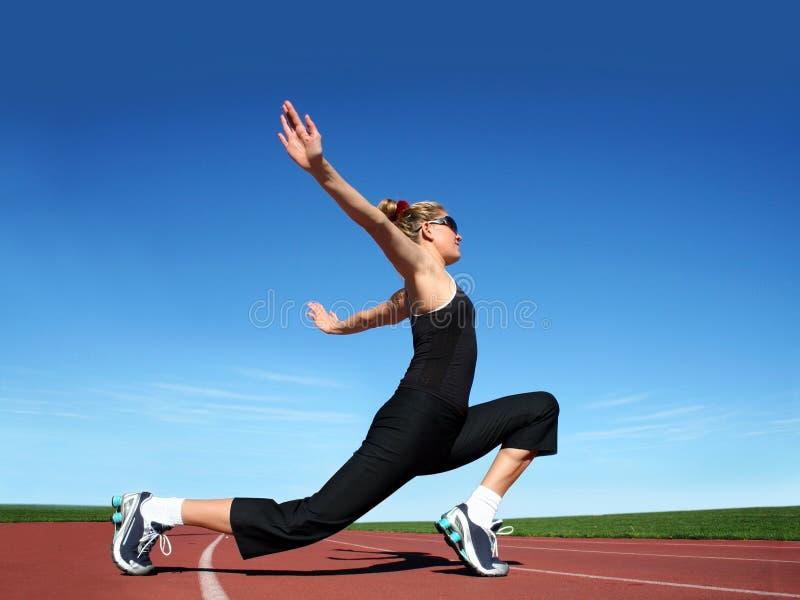 Exercice de fille photo stock