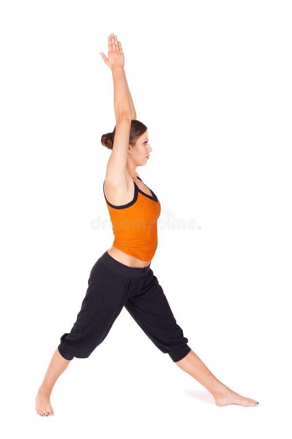 Exercice de pratique de yoga de femme images stock