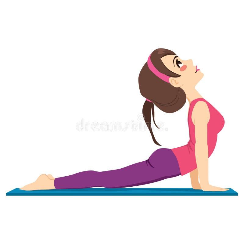 Exercice de yoga illustration stock