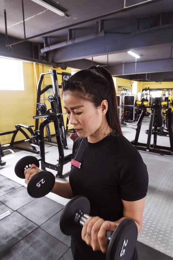 exercice des jeunes de femme de gymnastique image stock