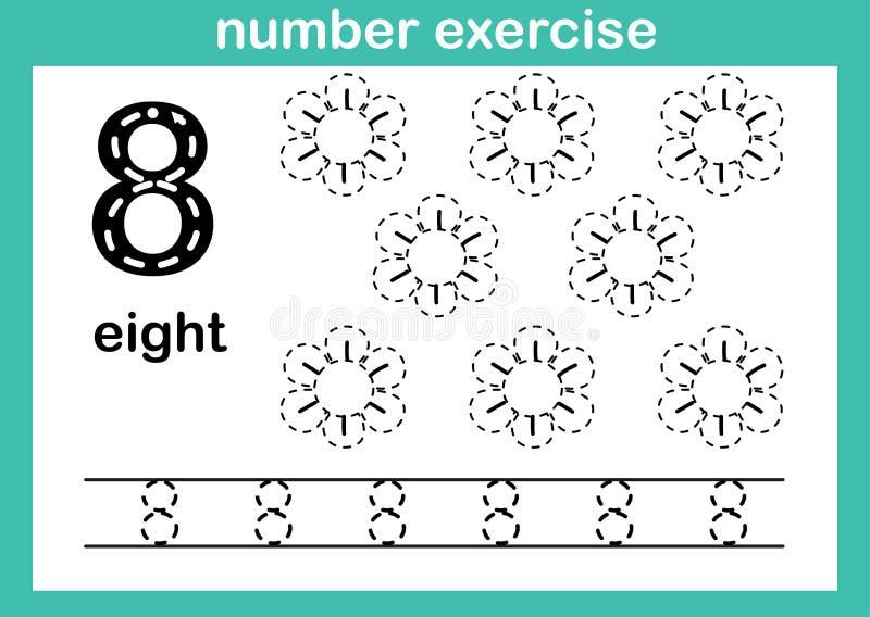 Exercice du numéro huit illustration libre de droits