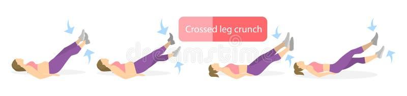 Exercice pour des jambes illustration de vecteur