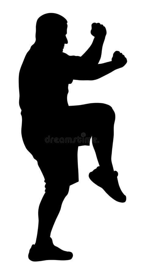 Exercices d'art martial illustration de vecteur