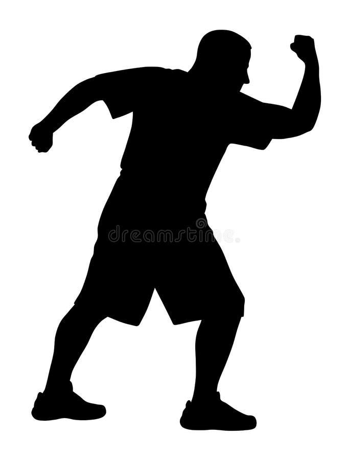Exercices d'art martial illustration libre de droits