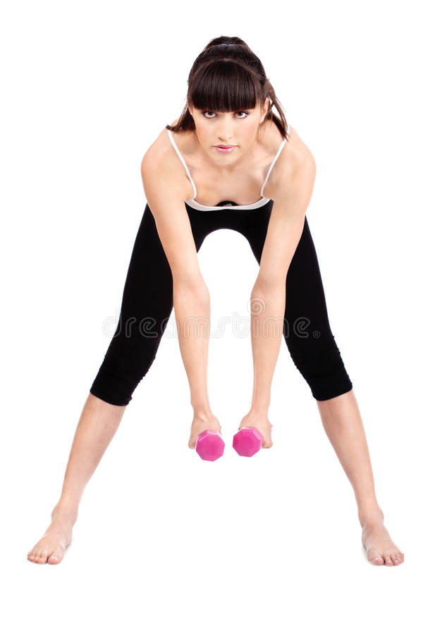 Exercices de forme physique images stock