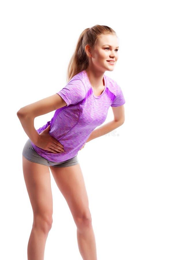 Exercices de sport sur un fond blanc photo stock