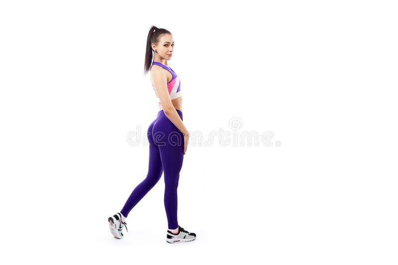 Exercices de sports pour des femmes image libre de droits