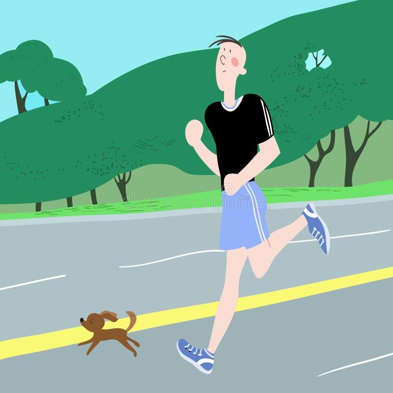Exercices sportifs illustration de vecteur