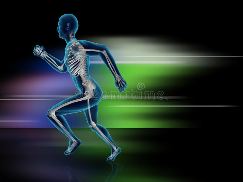 Exercise 3D. High Quality 3D Image stock illustration