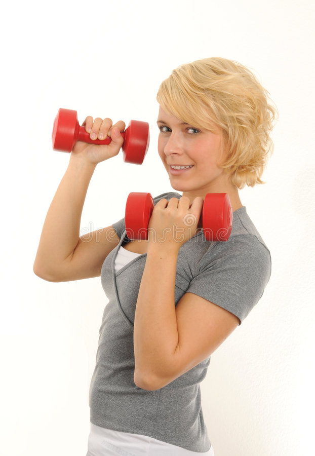 Download Exercise stock image. Image of dumbbell, white, fitness - 6707719