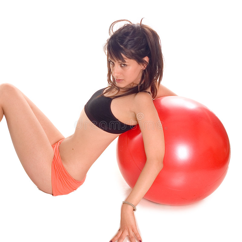 Download Exercise ball rollout stock photo. Image of exercise, train - 3221292