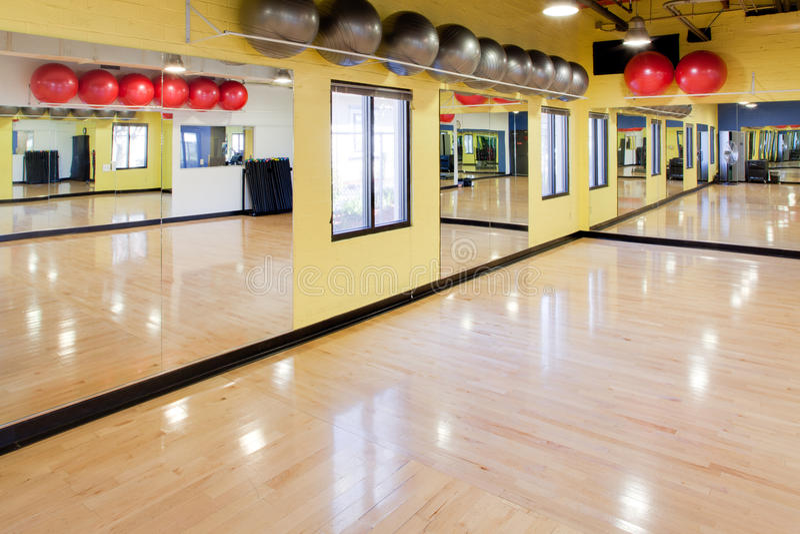 Download Exercise balls in gym stock photo. Image of balls, hardwood - 23936314