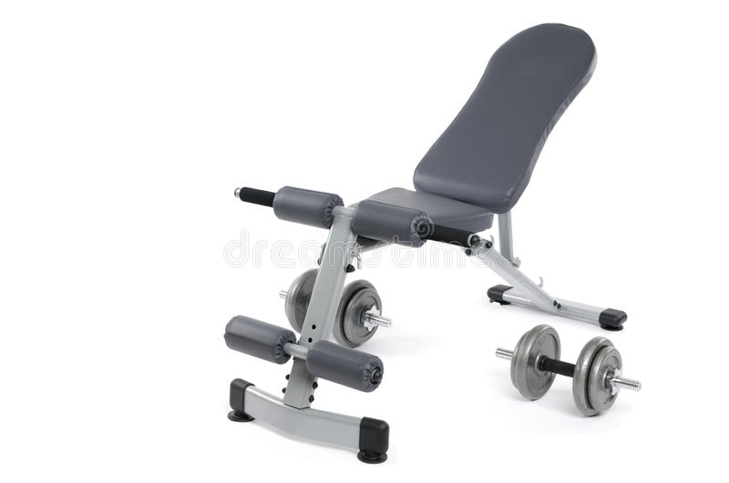 Exercise bench stock photography
