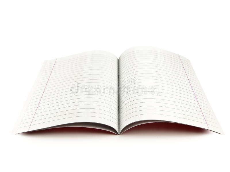 Exercise book royalty free stock photo