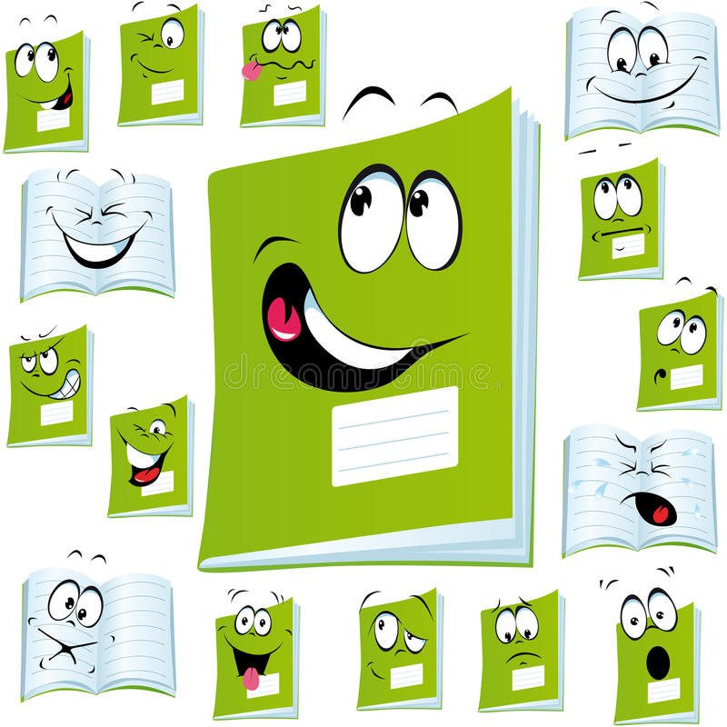 Exercise book cartoon vector illustration