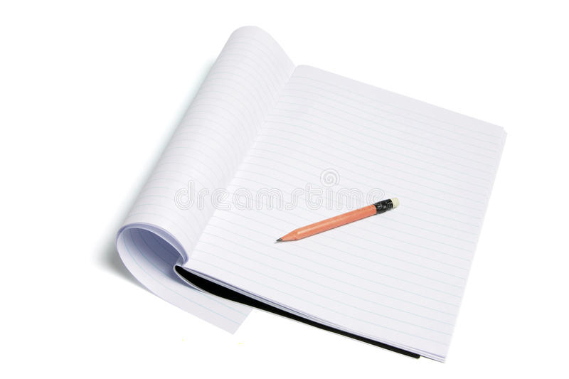 Download Exercise Book and Pencil stock photo. Image of lines - 12753250
