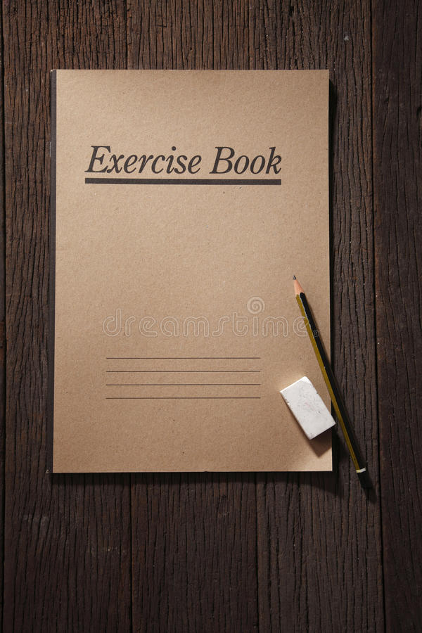 Exercise book stock image