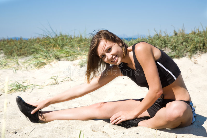 Exercise caucasian girl royalty free stock photo