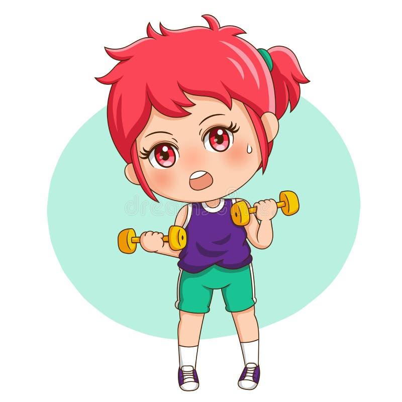 Exercise_2 femminile illustrazione di stock