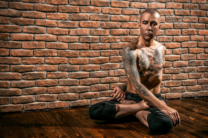 Exercise on flexibility stock photo