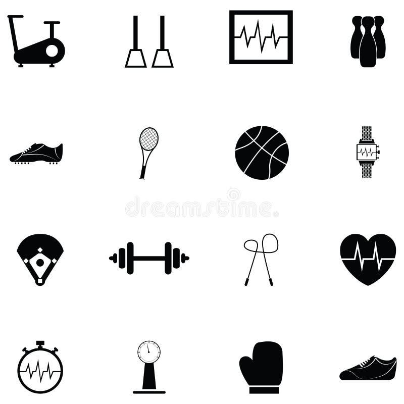 Exercise icon set vector illustration