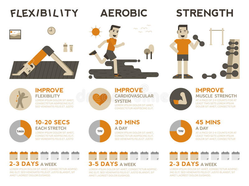 Exercise Infographic stock vector. Illustration of fitness - 57425921