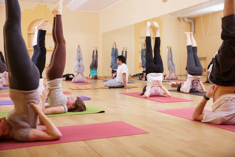 Exercise International Group Relaxation yoga. Exercise International Group Relaxation Fitness Concept yoga stock photos