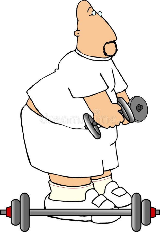 Exercise man stock illustration