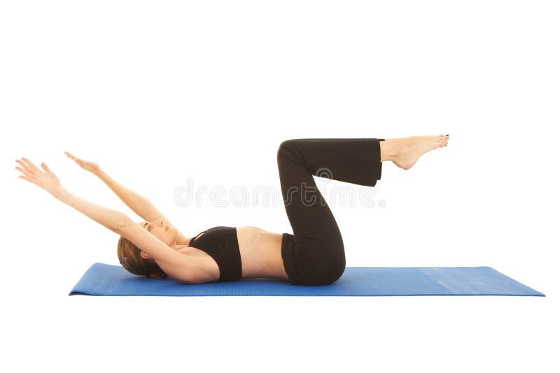 exercise pilates series стоковые фотографии rf