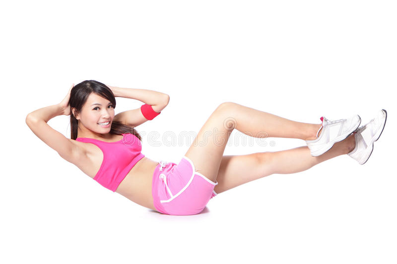 Download Exercise Sport Woman Doing Situps Royalty Free Stock Photos - Image: 27599968