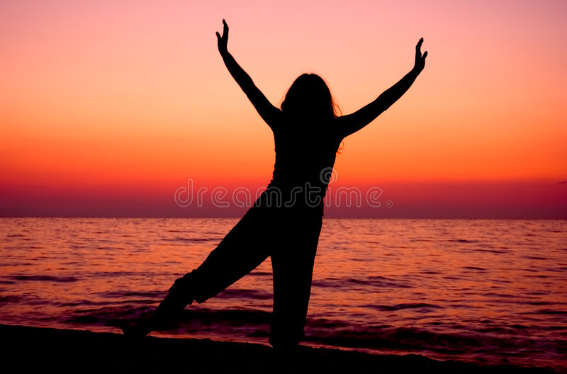 Download Exercise at sunrise stock photo. Image of daybreak, healing - 234620