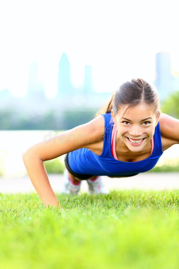 Download Exercise Woman - Push Ups Workout Stock Photography - Image: 23893542