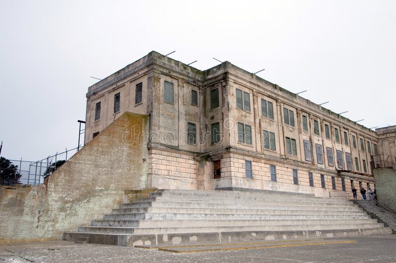 Download Exercise yard at Alcatraz stock image. Image of architecture - 2094389