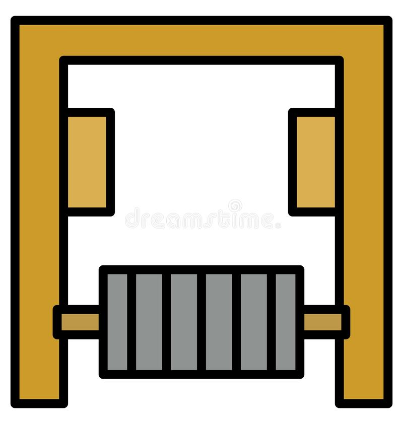 Exerciser Isolated Vector Icon that can be easily modified or edit royalty free illustration