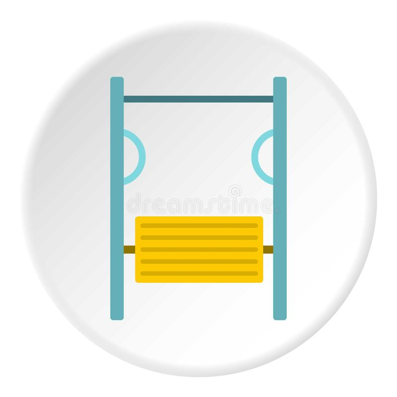 Exerciser on playground icon circle. Exerciser on playground icon in flat circle isolated vector illustration for web stock illustration