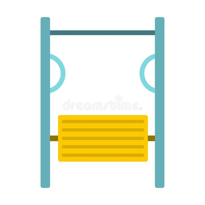 Exerciser on playground icon, flat style. Exerciser on playground icon in flat style isolated on white background vector illustration vector illustration