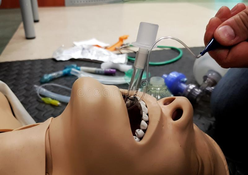 Exercises with intubation stock image