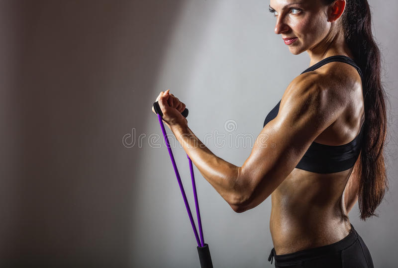 Exercises with a resistance of stock image