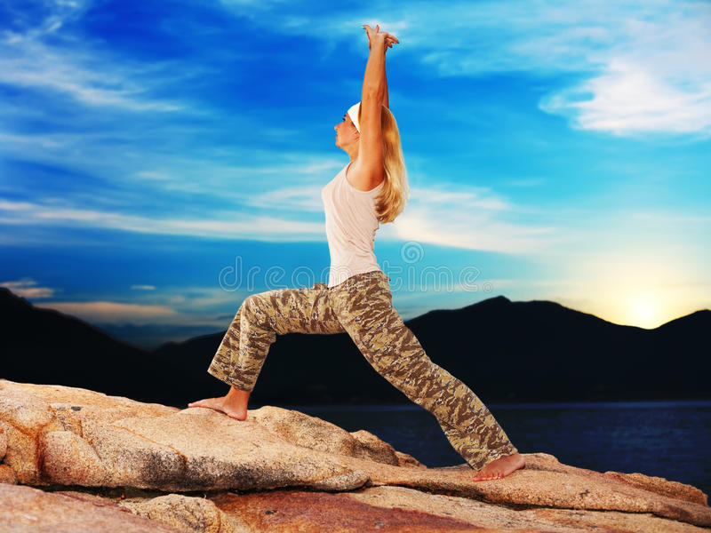 Download Exercises at sunrise time stock image. Image of beauty - 9544379