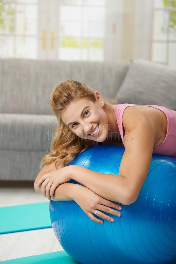 Free Exercising At Home Stock Image - 12048391