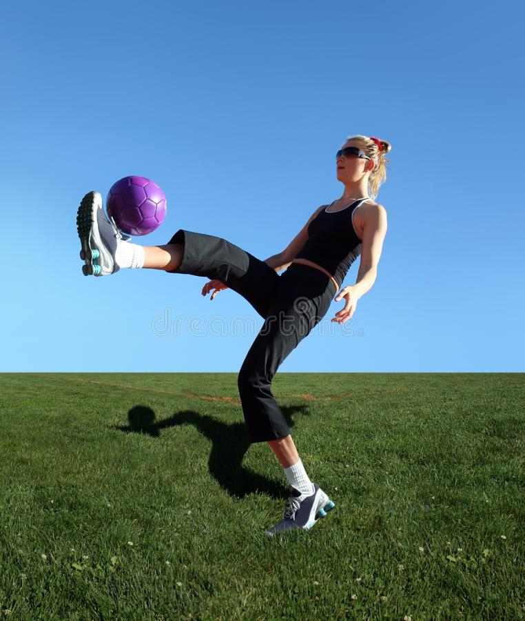Exercising with the ball royalty free stock photos